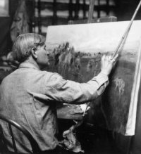 Charlie Russell in his studio